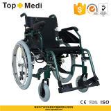 Кресло-коляска электричества батареи лития верхнего сегмента Topmedi алюминиевая облегченная