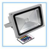 R/G/B/Warmの白くか涼しい白のリモコン20W RGBのフラッドライト