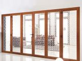 Puerta de aluminio del dormitorio de la alta calidad de la puerta de plegamiento de la seguridad