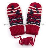 Перчатки & Mittens жаккарда способа теплые связанные акриловые