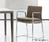 Neue Form rotes PU-Leder, das Stuhl mit Armlehne (NK-DCA003-1, speist)
