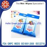 Animal de estimação descartável que banha Wipes molhados do animal de estimação de Santibacterial de toalha da limpeza