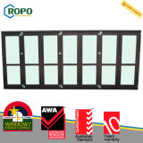 Дверь аккордеони патио безопасности прокатанная UPVC/PVC