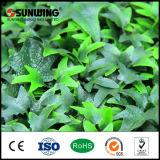 Cerca artificial verde revestida de la planta del PVC de la decoración del jardín