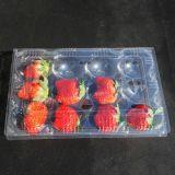 Rectángulo plástico de encargo del alimento para la fruta (bandeja clara del alimento)