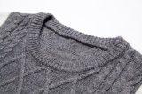 Venta al por mayor de manga larga de cuello redondo de cable que hace punto del suéter de los hombres