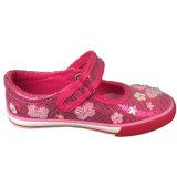 Großhandelsbabys Slip-onelegante Breathable Segeltuch-Schuhe mit Plastikraupen