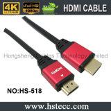 Mini HDMI macho do alumínio 19pin ao tipo masculino um cabo