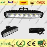 lumière de travail de 18W LED, lumière de travail de 1530lm LED, 12V lumière de travail de C.C LED pour Turcks