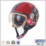 Шлем мотоцикла/мотовелосипеда/самоката стороны ECE высокого качества открытый с холодным Tattoo (OP228)