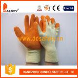 T/C gebreide Shell Latex Met een laag bedekte Werkende Handschoen Dkl321
