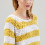 Signora Oversized Cotton Sweatershirt da Knitting Design