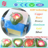 Horno fusorio del desecho de la inducción de cobre amarillo de la frecuencia intermedia
