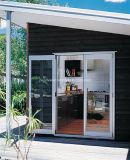 Hellblaue abgetönte ausgeglichenes Glas-französische Art-Aluminium-Türen