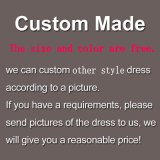 Rotes Hochzeits-Kleid Sleeves Spitze-Chiffon- Abschlussball-Partei-Kleider E52732