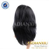 Perruques noires en gros de cheveux courts de lacet de Glueless de produits capillaires pleines