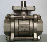1000wog RVS 3PC Ball Valve met High Platform