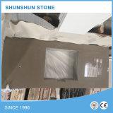 Compteurs de cuisine blancs artificiels de pierre de quartz pour la décoration à la maison