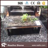 Lajes de mármore preto chinês com veias de listra para a tampa de bancada / Vanitytop