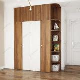 Armário do Wardrobe das portas da mobília 4 da melamina de Yg03A