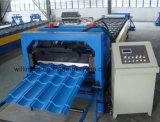 828 tipo ondulato blu lamina di metallo d'acciaio delle mattonelle che forma macchina