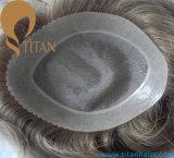 Toupee degli uomini caldi di vendita del buon del Virgin di 100% sistema dei capelli umani