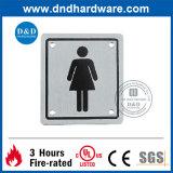 Plaque de signe de la toilette Ss304 publique
