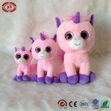 Le bébé rose de licorne joue le jouet populaire de la CE de peluche de grands yeux