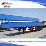 Aanhangwagen van de Lading van de Kleur van 3 Assen van de leverancier de Nieuwe Verschillende Flatbed Semi met ISO- Certificaat
