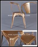 Деревенский рециркулированный металл стула, промышленная рамка металла для обедать стул