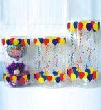 Пластичная коробка цилиндра PVC для украшения подарка рождества