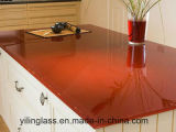 vidrio endurecido 10m m de 6m m 8m m Worktop con vario color