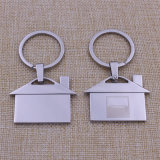 Hot Sale Custom Metal House Keychain com Black Gift Box