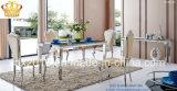 Hotel inoxidável luxuoso do casamento do banquete do frame de aço que janta a cadeira