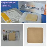 Preparaciones médicas de la espuma del vendaje para heridas FDA 510k de la PU de la plata de Foryou