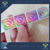 Aceitar a etiqueta feita sob encomenda do holograma dos números do laser