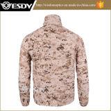 Uomini respirabili ultrasottili della camicia della pelle della camicia degli uomini di Camo del deserto