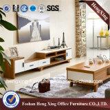 Стойка TV меламина самомоднейшей живущий мебели комнаты белая (HX-6M313)