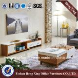 Stand blanc de la mélamine TV de meubles modernes de salle de séjour (HX-6M313)
