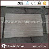 Chinese White Wooden Grain Marble for Wall panel Tile design