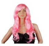 Cosplay 새로운 유행 분홍색 푹신한 꼬부라진 가발