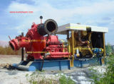 Op zwaar werk berekende Hoge het Uitbaggeren van de Pomp van de Baggermachine van het Grint van het Zand van het Chroom Dunne modder