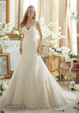 2017 A - linha vestidos de casamento nupciais 2890 da cinta do laço
