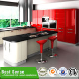 Umidade barata moderna - gabinete de cozinha da prova
