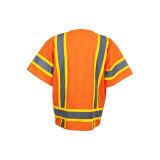 Veste elevada da segurança de tráfego da visibilidade (classe 3)