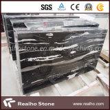 CountertopまたはVanitytopのためのStripe Veinsの中国のBlack Marble Slabs