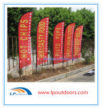 Kundenspezifisches Cheap Hot Sales Different Size Wholesale Advertizing Aluminum und Fiberglass Printing Outdoor Beach Flag, Feather Flag, Flying Flag
