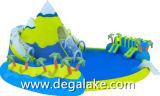 Parque inflável popular da água da montanha da neve para o divertimento