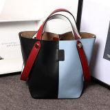 Bolso de encargo Emg4760 del cuero de la colisión de los colores de los bolsos de las mujeres del surtidor de China