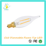 Stoele C10 Dimmable 프레임 끝 초 LED 필라멘트 옥외 빛